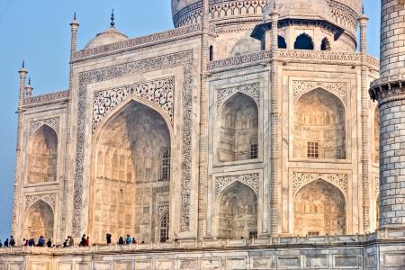 agra: Panoramic view of Taj Mahal at sunset, Agra, Uttar Pradesh, India