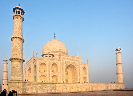 Panoramic view of Taj Mahal at sunrise, Agra, Uttar Pradesh, India  photo
