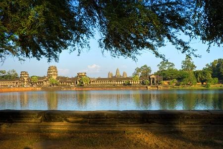 angkor: Angkor Wat Temple, Siem reap, Cambodia. Stock Photo
