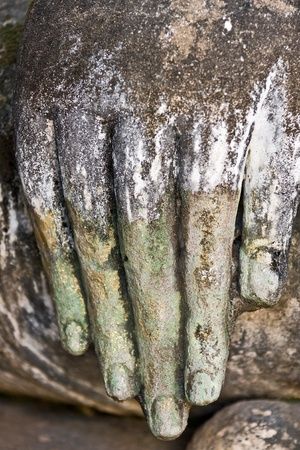 Buddha hand, Sukhothai, Thailand. Stock Photo - 9076852