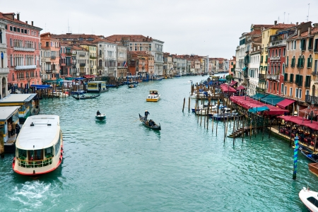 rialto bridge: Venice, View from Rialto Bridge  Italy