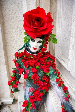 Rose mask in Venice, Italy. photo