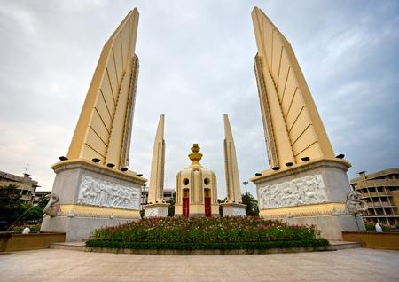 budha: Democracy monument, bangkok, Thailand.  Editorial
