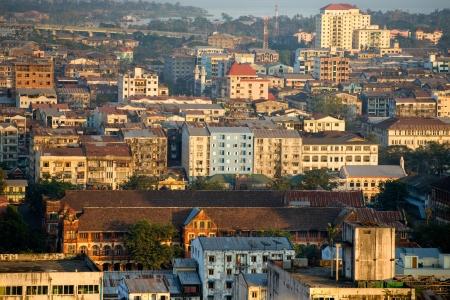 Myanmar: Vue panoramique de Yangon Yangon, au Myanmar Banque d'images