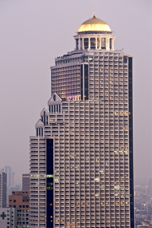 technoligy: View of the State Tower after sunset, bangkok, Thailand