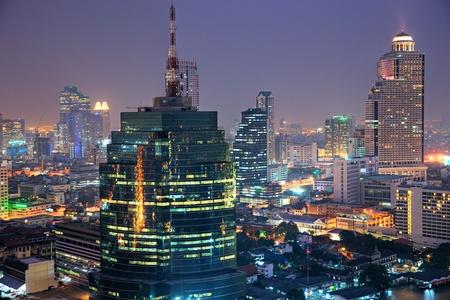 Night View of Bangkok, Thailand. photo