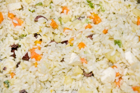 primavera: Primavera Rice. (Rice with vegetables, eggs and cheese.).