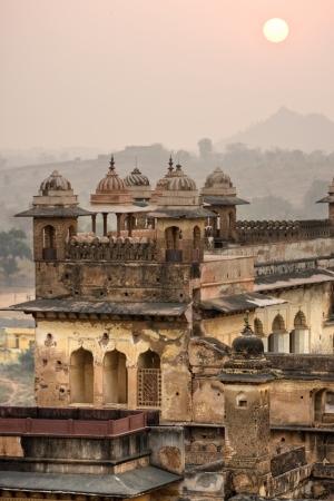 madhya pradesh: Palace in Orcha, Madhya Pradesh, India