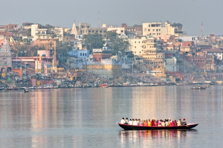 uttar: View of varanasi, Uttar Pradesh, India