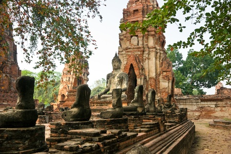 Ruined Old Temple of Ayuthaya, Thailand, photo