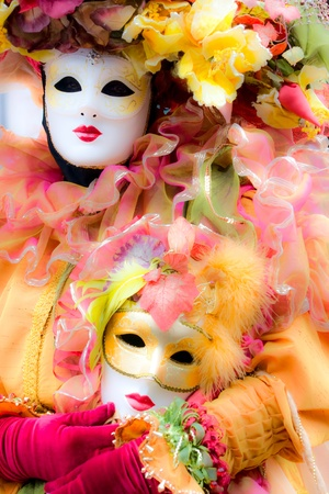 Soft focus picture of venetian carnival mask. Shot with a flou filter to make a dreaming effect. Stock Photo - 9077271