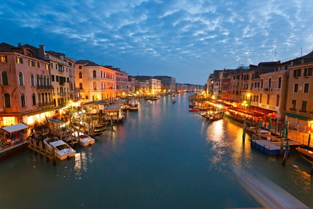 Venice, View from Rialto Bridge. Italy. Stock Photo