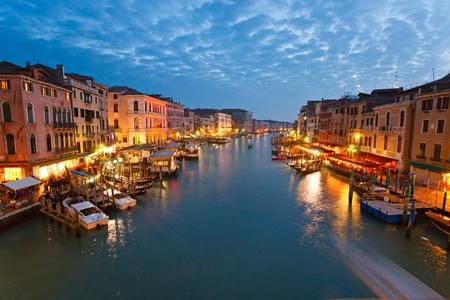 grand: Venice, View from Rialto Bridge. Italy. Stock Photo