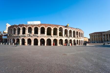 verona: Arena of verona, ancient roman amphitheatre. italy Editorial