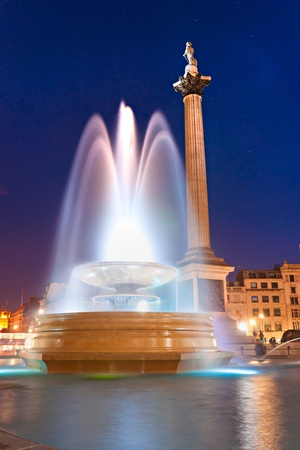 Night shot of Trafalgar Square, London, UK. Stock Photo - 10849667