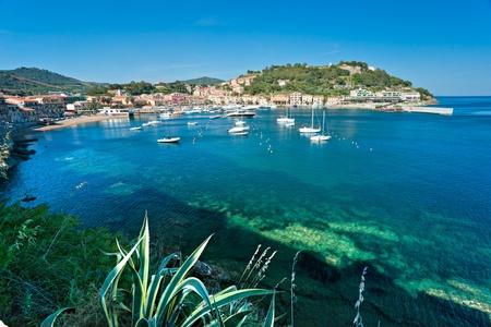 View of Portoazzurro. Isle of Elba, Livorno, Italy.