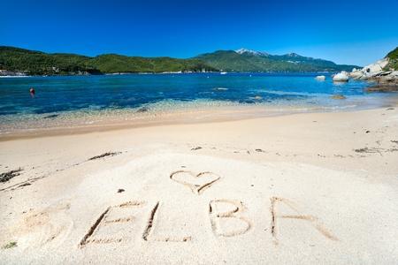 capo: Capo Bianco beach, Elba island. Italy.