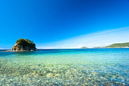 ラ パオリーナ ビーチ、プロッキオ、エルバ島。 写真素材