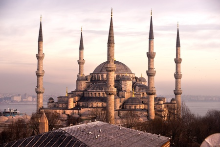 bosphorus: The Blue Mosque, (Sultanahmet Camii), Istanbul, Turkey. Stock Photo