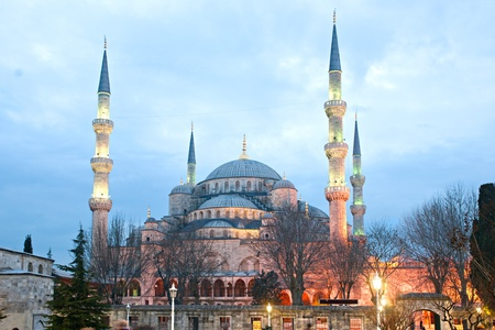 The Blue Mosque, (Sultanahmet Camii), Istanbul, Turkey. Stock Photo - 11039860