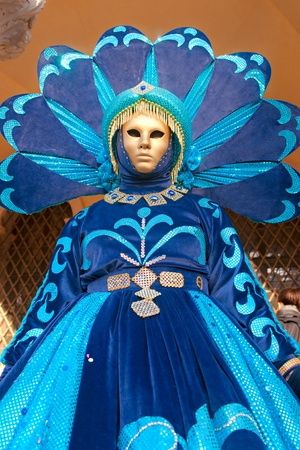 mardigras: VENICE - MARCH 05: Participant in The Carnival of Venice, an annual festival that starts around two weeks before Ash Wednesday and ends on Mardi Gras on March 05 2011 in Venice, Italy. Stock Photo