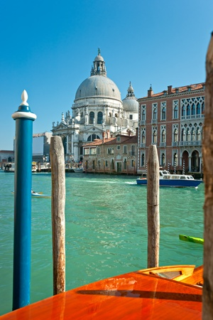 Venice, view of grand canal and basilica of santa maria della salute. Italy. Stock Photo - 11039850