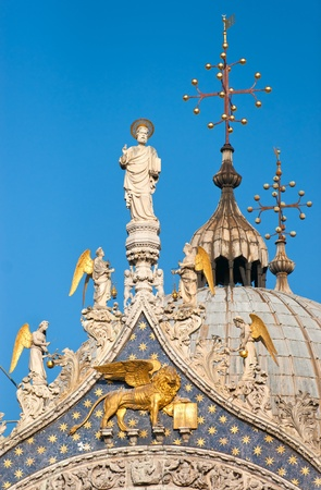 procuratie: Details of St. Marks Cathedral in Venice, Italy