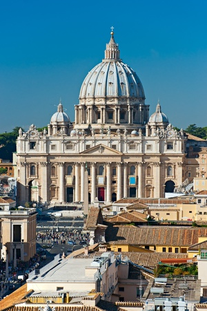 pietro: View of San Peter square, Rome, Italy. Editorial