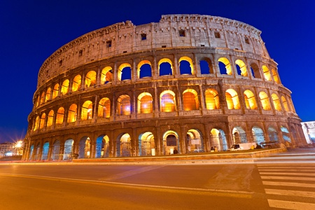 monument historical monument: The Majestic Coliseum Amphitheater, Rome, Italy.