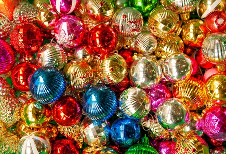 Colorful collection of Christmas Balls useful as a background pattern photo