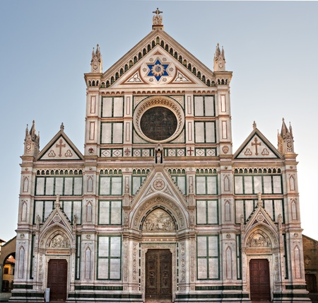 Florence, view of Santa croce church. Tuscany. photo