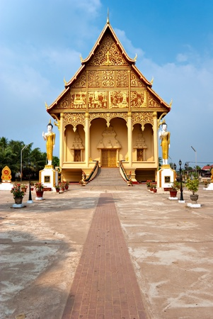 The sacred Wat That Luang, Vientiaine,Laos.