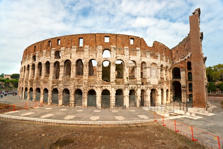 The Majestic Coliseum Amphitheater, Rome, Italy. photo