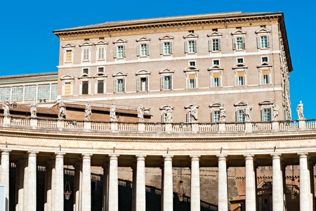 st  peter s square: View of  San Peter basilica, Rome, Italy