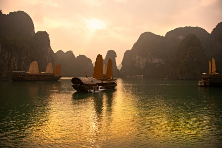 Halong Bay, Vietnam. Unesco World Heritage Site. Most popular place in Vietnam. photo
