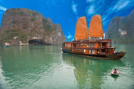 Halong Bay, Vietnam. Unesco World Heritage Site. Most popular place in Vietnam. 写真素材