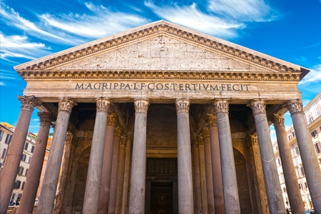 pantheon: Inside the Pantheon, Rome, Italy.
