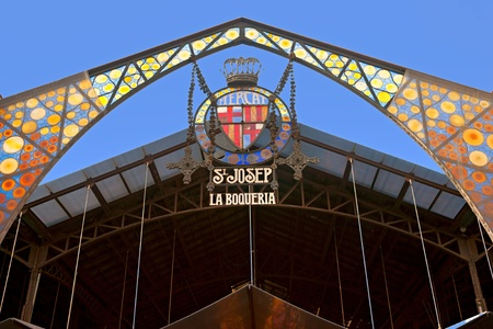 barcelona spain: Mercat de la Boqueria, Barcelona, Spain.
