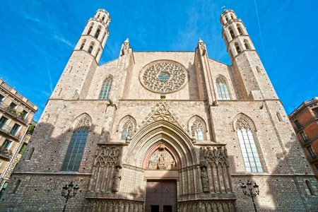 christ is born: The Cathedral of Santa Maria del Mar, Barcelona. Spain.
