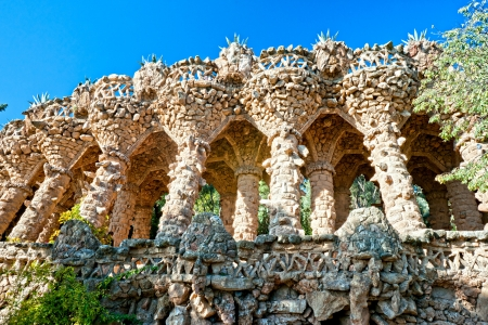 guell: Park Guell in Barcelona, Spain