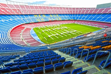 iniesta: The majestic Camp Nou, barcelona, spain. Editorial
