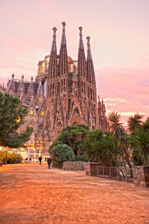 uncomplete: La Sagrada Familia, Barcelona, Spain