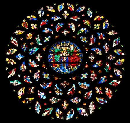 The rosette window of Santa Maria del Mar, Barcelona
