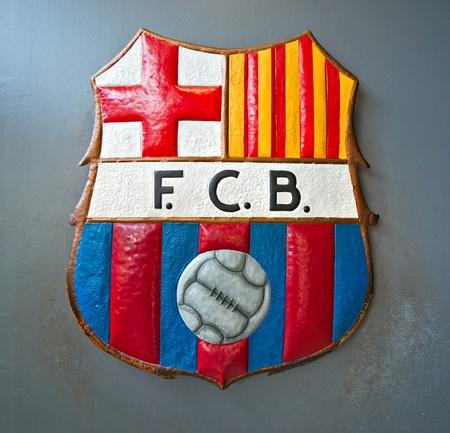 The FC Barcelona symbol.