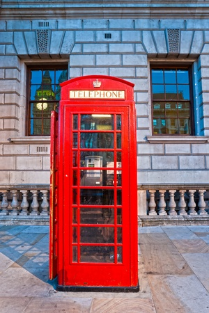 Red telephone box and Big Ben. London, UK Stock Photo - 12092460
