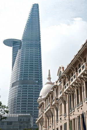 chi: HO CHI MINH CITY - DECEMBER 18: The Bitexco Financial Tower is the tallest building in Vietnam, inaugurated in 30 october 2010. December 18, 2010 in Ho Chi Minh City.
