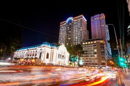 Vista nocturna de Ciudad Ho Chi Minh, Vietnam. Foto de archivo - 12092480