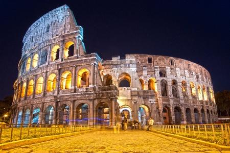 amphitheater: The Majestic Coliseum Amphitheater, Rome, Italy.