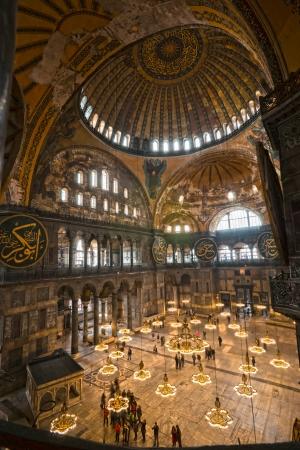 constantinople: Hagia Sophia mosque in sultanahmet, Istanbul, Turkey