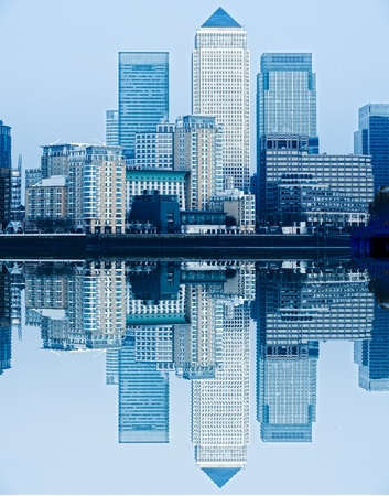 docklands: Canary Wharf, London, UK Stock Photo
